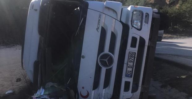 Tırın sürücüsü hayatını kaybetti