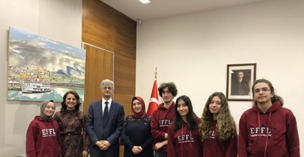 Eskişehir Fatih Fen Lisesi proje ekibini kabul etti