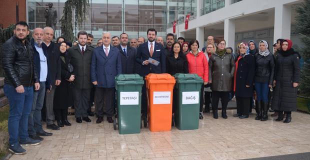 Belediyeye çöp  konteyneri tepkisi