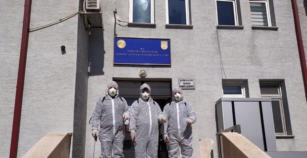 Dodurga da dezenfekte çalışmaları tamamlandı