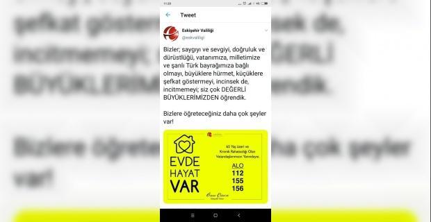 Eskişehir Valisi Çakacak'tan anlamlı tweetler