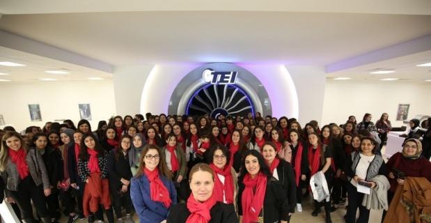 Kız öğrenciler TEI'de ağırlandı