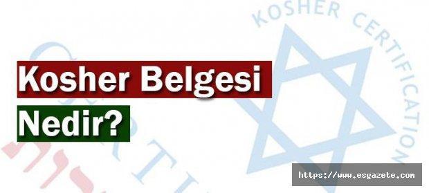 Kosher (Koşer) Belgesi