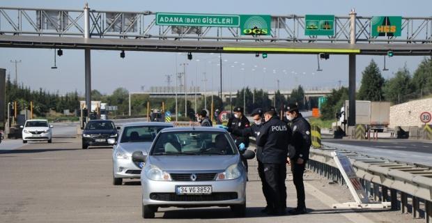 Adana'ya giriş ve çıkışa üst düzey önlem