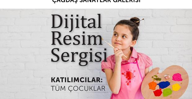 Çocuklar için 'Dijital Resim Sergisi'