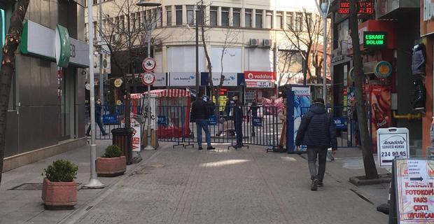 Eskişehir'de bazı sokaklara sınırlama getirildi