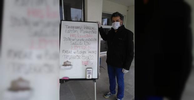 Nafiye-Hüseyin Küçükoğlu Tepebaşı Halk Eğitim Merkezi ve ASO virüs tedbirlerini aldı