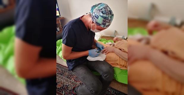 Odunpazarı hasta, yaşlı ve engellilerin yanında