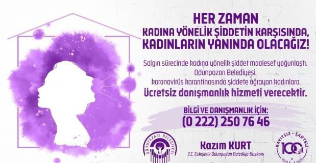 Şiddete uğrayan kadınlara danışmanlık