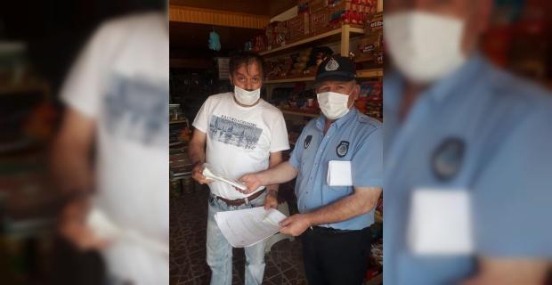Belediyeden ilçedeki tüm esnaflara maske desteği