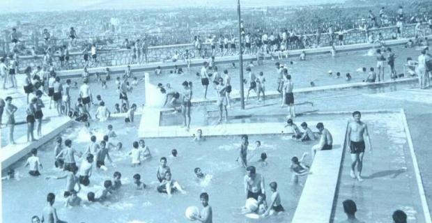 Bir zamanlar bademlik yüzme havuzu