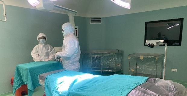 Eskişehir'de korona virüs hastalarına ayrılan ameliyathaneler görüntülendi