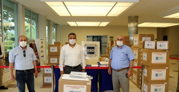 ESO'dan bayram hediyesi maske dağıtımı