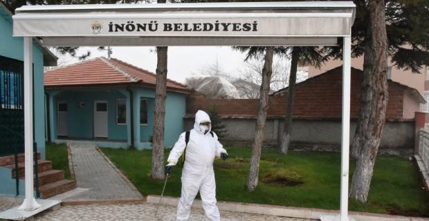 İnönü'de dezenfekte çalışmalarına devam
