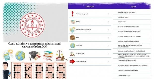 Özel eğitim öğrencilerinin EKPSS'ye hazırlığı için mobil uygulama