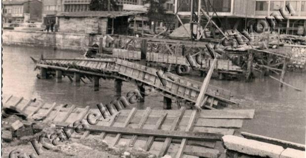 Şale Otelin önündeki köprünün inşaatı