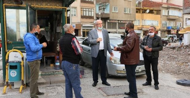 Başkan Kurt taksi durağını ziyaret etti