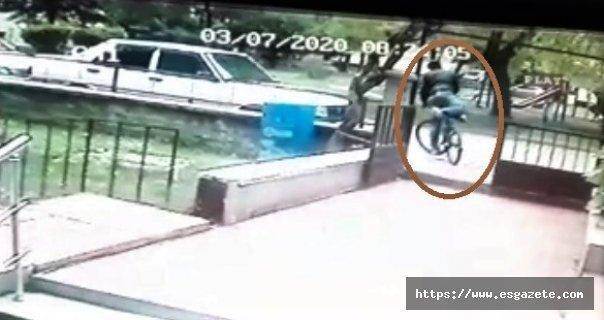 Bisiklet hırsızlığı böyle görüntülendi
