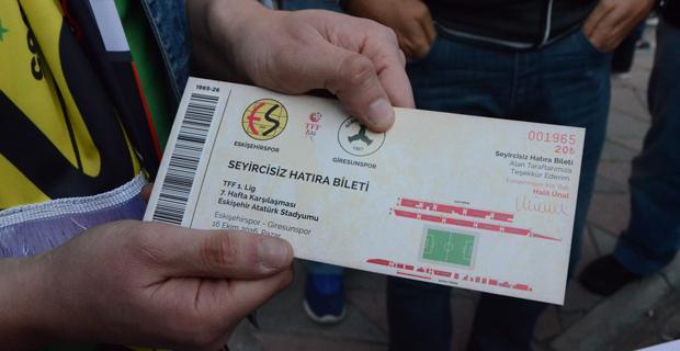 Eskişehirspor dünyaya örnek oldu/Hatıra bilet kampanyası
