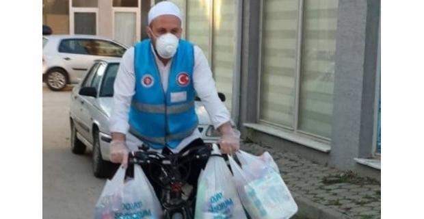 Korona virüsün bisikletli kahramanı