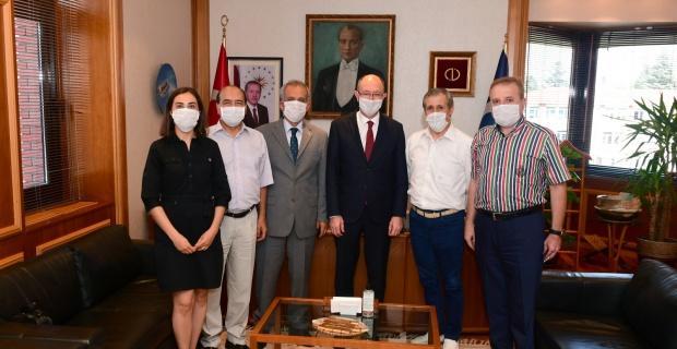 Gazeteciler Cemiyeti'nden Rektör Erdal'a Ziyaret