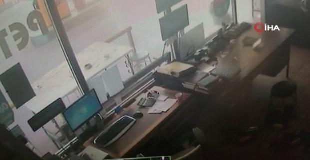 Patlama anında yaşananlar güvenlik kameralarına yansıdı