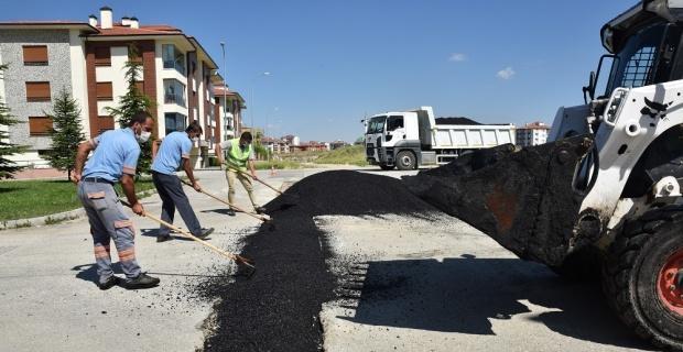 Tepebaşı Belediyesi üst yapı çalışmalarına devam ediyor