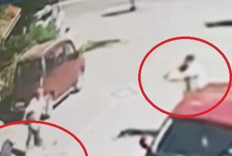 Samsun'da 2 kişinin öldürüldüğü silahlı çatışmanın görüntüleri dehşete düşürdü