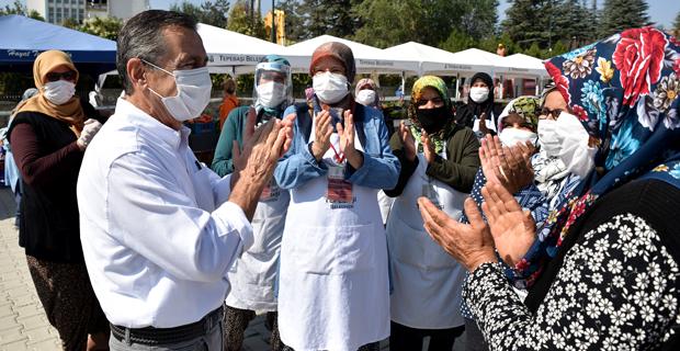 Başkan Ataç'tan Üretici Kadınlara Ziyaret