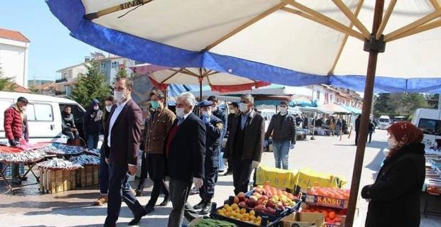Dumlupınar pazarı kapatıldı