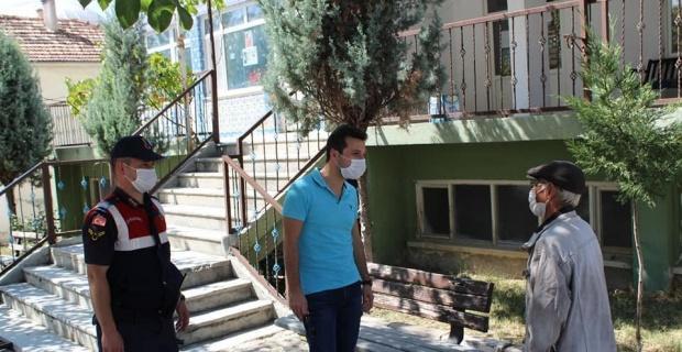 Kaymakam Karadağ'dan köyde Korona virüs denetimi