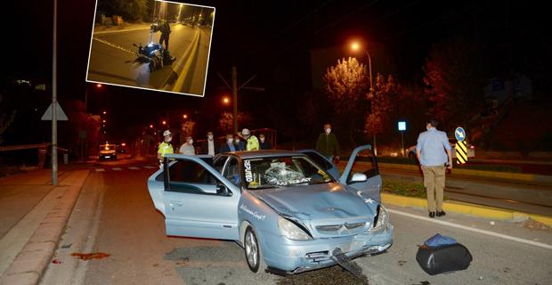 Motosikleti ile kaza yapan polis memuru ağır yaralandı