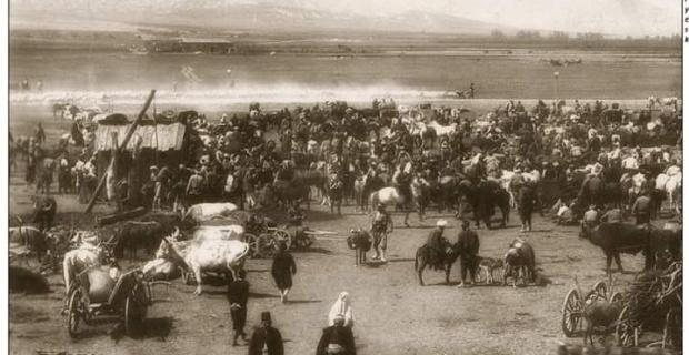 1900'lü yıllar Eskişehir'de bir harman yeri
