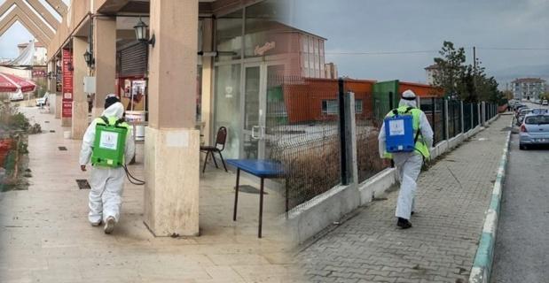 Kütahya'da dezenfeksiyon çalışmaları