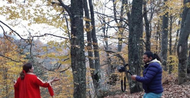 Domaniç Dağları'nda klip çekildi