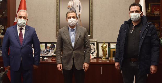 Elektrikçiler Odası'ndan Ataç'a ziyaret