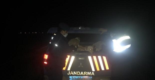 Jandarma ekipleri yol kenarında buldukları ağzı kapalı çuvalın içini açınca şok oldular