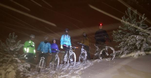 Milli sporcu adayları kar kış dinlemeden çalışıyor