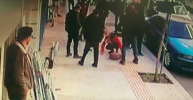 Balkondan atlayıp vatandaşın son anda altında kalmaktan kurtulduğu kadını abisi eve kilitlemiş