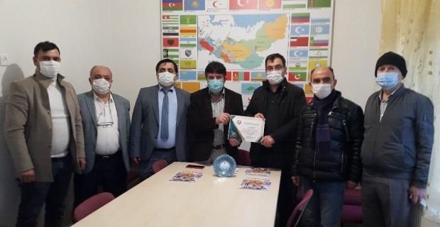 Eskişehir Kızılma Turan Derneği'ne teşekkür belgesi