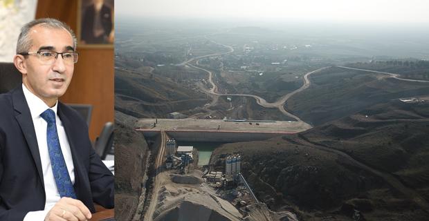 Gündüzler Barajı yükseliyor