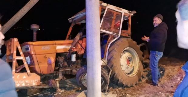 Traktör sürücüsü yaralandı