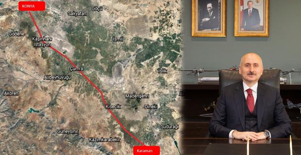 Konya-Karaman YHT test sürüşü 8 Şubat'ta