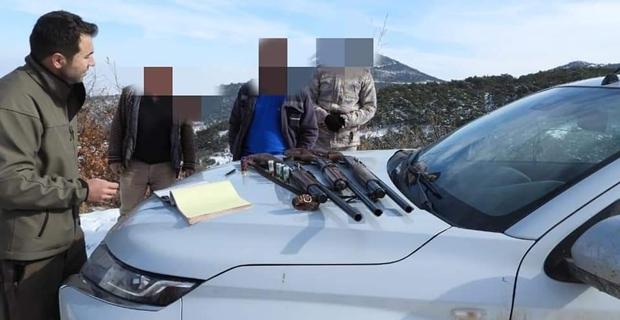 Yasadışı avlanan 17 kişi hakkında işlem yapıldı