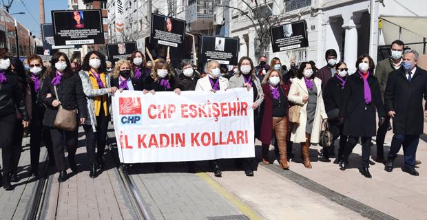 CHP'li kadınlar sokaklarda haykırdı