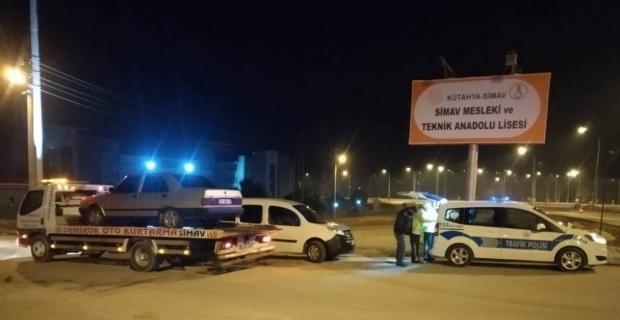 Simav'da 63 araç trafikten men edildi