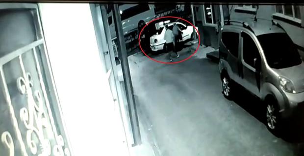 Acemi hırsız böyle görüntülendi