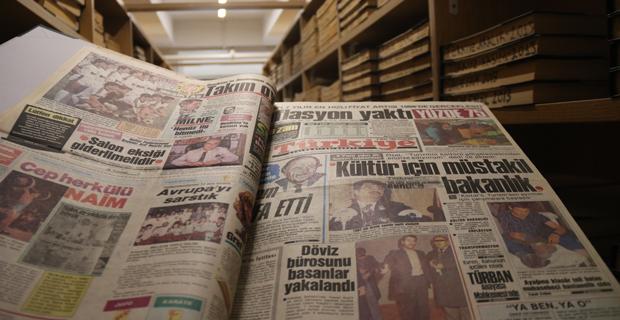 Gazete arşivi geçmişe ışık tutuyor