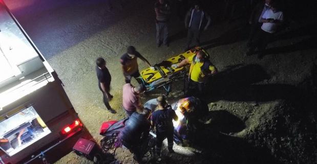 Otomobili ile uçuruma düştü