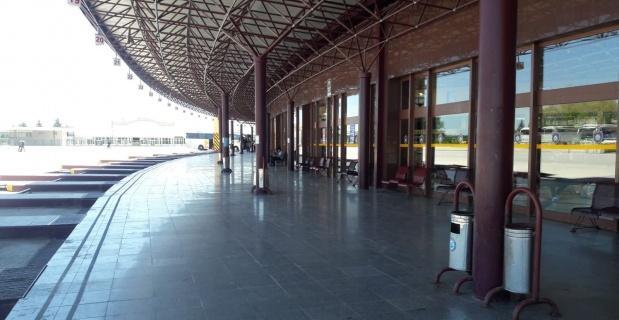 Otobüs terminali sessizliğe büründü